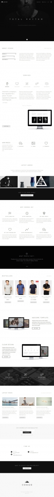 Rhythm - informative e-commerce template