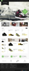 Custom designed shoe web shop